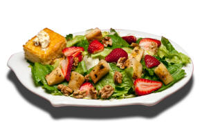 Beale St. Salad - Our kicked up grilled pineapple chunks, sliced strawberries and walnuts on a fresh bed of lettuce served with raspberry vinaigrette dressing. Served with cornbread.